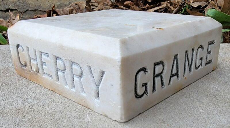 Antique Vtg Marble Base Cherry Grange Hall No. 1224 Pennsylvania