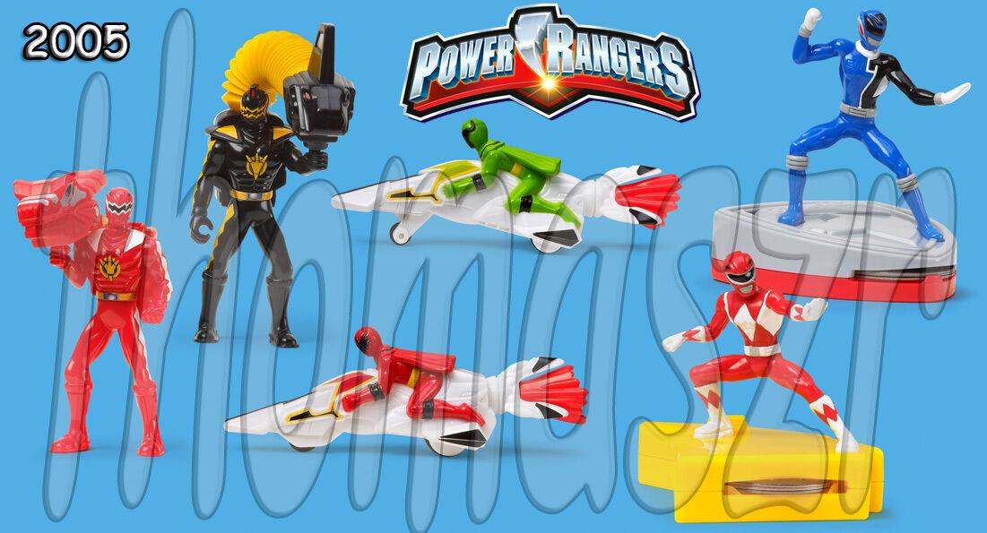 POWER RANGERs toy set (all 6) McDonald's McD / BVS Entertainment  (2005) *Mint