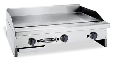 American Range Armg-24 Counter Unit 24 Inch Manual Gas Griddle With Steel Plat