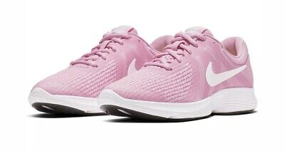 Nike Revolution 4 Trainers New UK 4 Pink Women/girls Running Gym Sports Shoes
