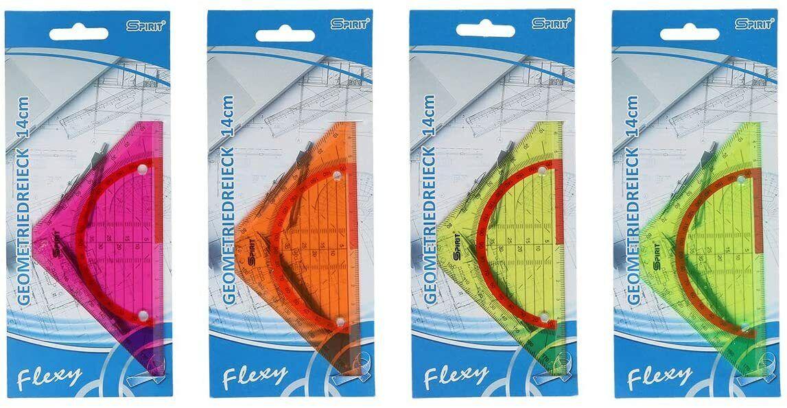 Flexi Lineal oder Geodreieck 14cm/20cm/30cm biegsam