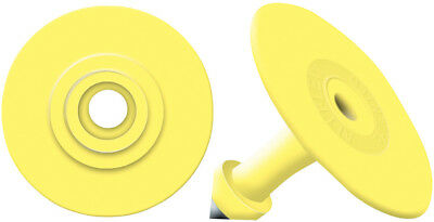 Allflex Global Small Round Ear Tags With Buttons Yellow Blank 25ct Pkg