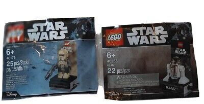Lot of 2 LEGO Star Wars 40176 Scarif Stormtrooper and 40268 R3-M2 Polybag
