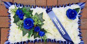 Pillow Shape Silk Artificial Funeral Flowers Wreath/Memorial/Grave/Tribute 20x12
