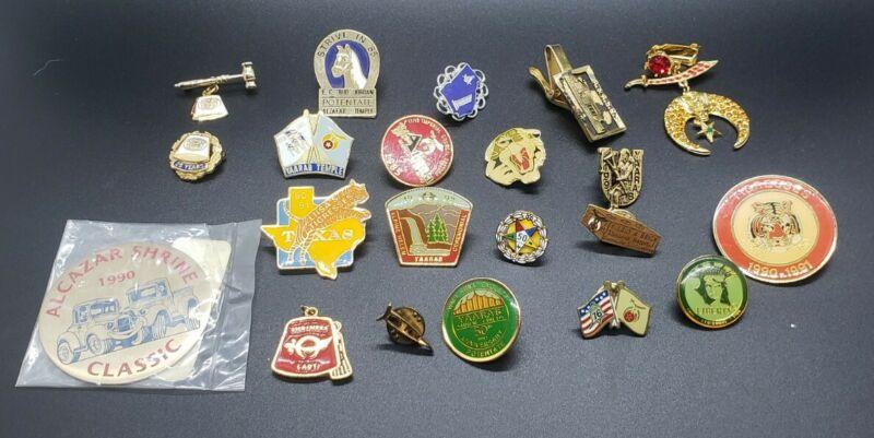 Lot of 21 Vintage and Modern Masonic Pins, pendants etc.