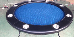NEW ROUND POKER TABLE WITH SET OF CHIPS IN CARRY CASE Hope Valley Tea Tree Gully Area Preview