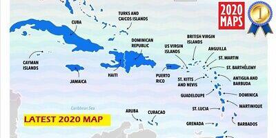 Latest Caribbean Compatible Map 2020 for Garmin GPSs