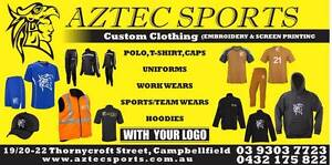 Aztec - Custom Clothing ( Embroidery & Screen Printing) Campbellfield Hume Area Preview