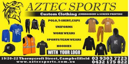 Aztec - Custom Clothing ( Embroidery & Screen Printing)