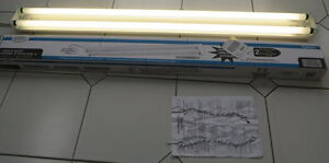 Brand New Dual-Lamp Fluorescent Shop Light with Cord and Bulbs