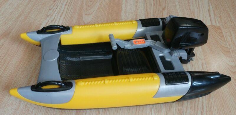 "Gi Joe 2003 Hasbro Yellow Army Ranger Military Motor Boat For 12"" Doll"