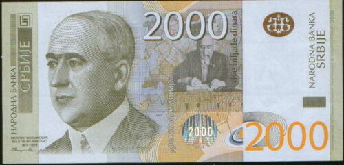 Serbia 2000 Dinars 2012. P-61b.  UNC.