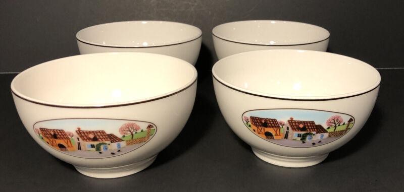 Villeroy & Boch NAIF DESIGN Set 4 Rice Bowls