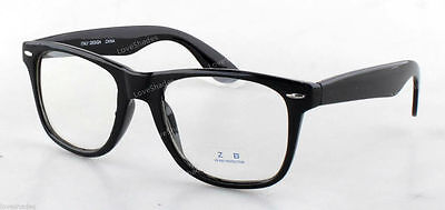 Clear Lens Black Frame Cat Eye Glasses Designer Fashion Nerd Geek Mens Womens - Cat Eye Glasses Frames
