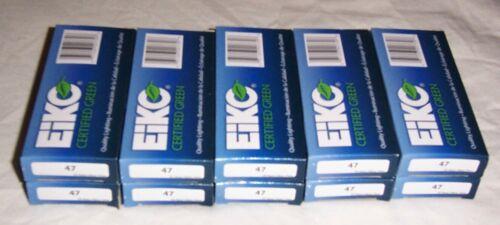 100 #47 Pinball Machine Eiko Clear Miniature Light Bulbs Lamps Free Shipping New