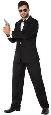 Déguisement Homme AGENT SECRET Noir M/L Policier James Bond Men in Black - M James Bond Kostüm