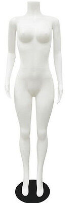 Mn-238 White Plastic Busty Headless Ladies Full Size Mannequin