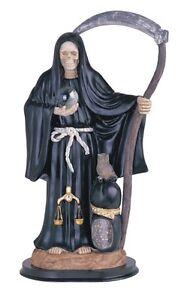 ... Black-La-Santa-Santisima-Muerte-Holy-Death-Grim-Reaper-Statue-Figurine
