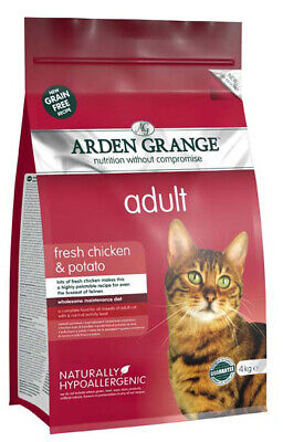 Grain Free Adult Dry Cat Food With Fresh Chicken & Potato 4kg Bag
