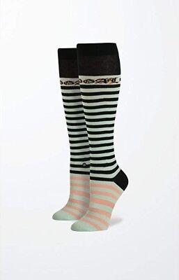 STANCE Women's RIHANNA Candy Bars Tall Boot Striped Mint Socks Size OS(6-10) NEW