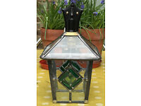 NEW Stained Glass Leaded Wall Lantern