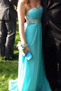 Size 0 Baby Blue Prom Dress