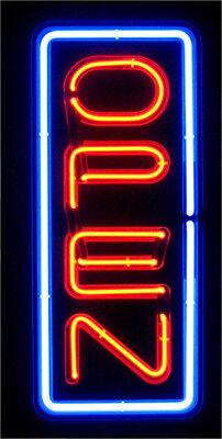 Neon Open Sign Light Bright Big Size Restaurant Store Business Liquor Vertical