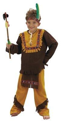 Indianerkostüm für Jungen mit Fransen 3-teilig - Indianer Kostüm Für Jungs