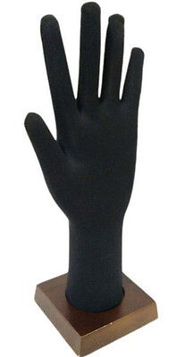 Ds-185 Black Bendable And Posable Foam Glove And Jewelry Display Hand - Unisex