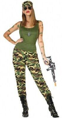 Déguisement Femme MILITAIRE M/L 40/42 Armée Soldat Commando Rambo NEUF