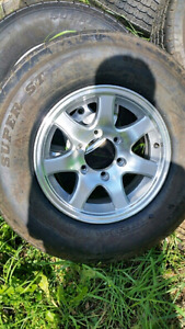 New trailer tires on 5 6 and 8 bolt rims All SIZES