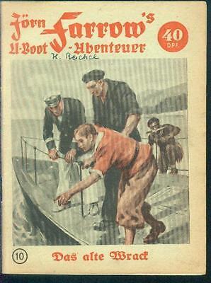 Jörn Farrow´s U-Boot - Abenteuer Nr.10 von 1951 - ORIGINAL ROMANHEFT-RARITÄT