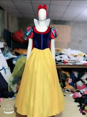 Princess Snow White Fancy Dress Halloween For Adult Cosplay Costume Fashion 2019