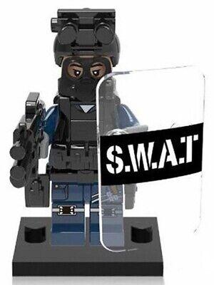 SWAT Military Uniform Shield Sword Police Building Blocks Best Toys Gifts