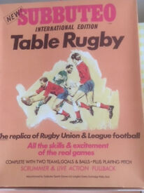 Subbuteo Table Rugby, complete with printed instructions