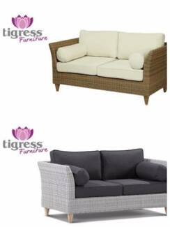 Sommersby 2 Seater Outdoor Wicker Sofa Lounge Cane Teak Couch Maroubra Eastern Suburbs Preview