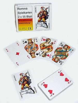 2 x 55 SKAT Romme Karten Kartenspiel Spielkarten Rommekarten Poker