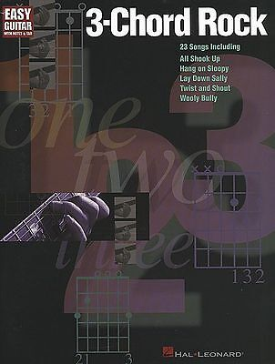 3 CHORD ROCK EASY GUITAR TAB SHEET MUSIC SONG BOOK NEW on Rummage