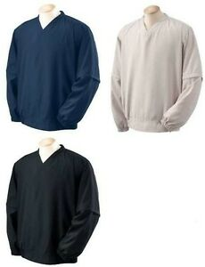 DJ-Mens-NEW-Size-S-M-3XL-Long-Short-Convertible-Teflon-V-neck-Windshirt-Jumper