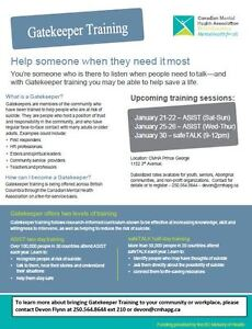 Suicide Prevention Training Prince George British Columbia image 1