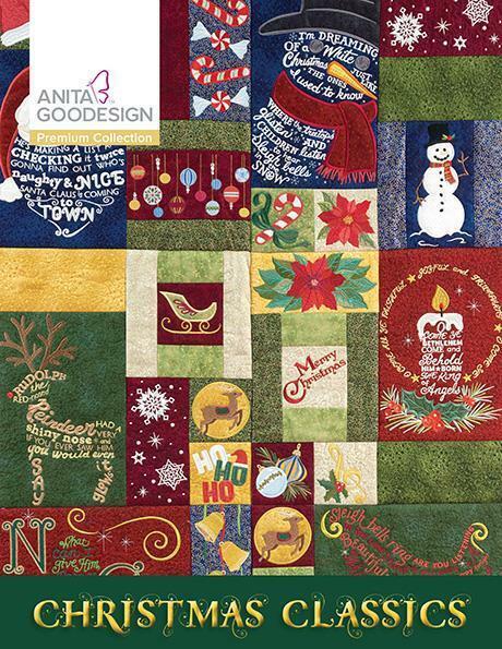 Christmas Classics Anita Goodesign Embroidery Machine Design CD NEW