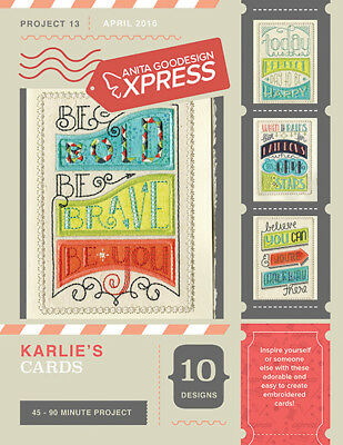 Anita Goodesign Express Karlie's Cards Embroidery Machine CD (CD ONLY)