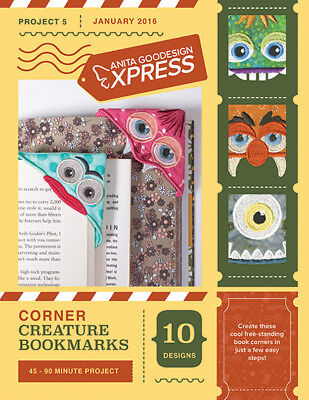 Anita Goodesign Express Corner Creature Bookmarks Embroidery CD (CD ONLY)