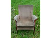 Parker knoll style fireside chair with side arms