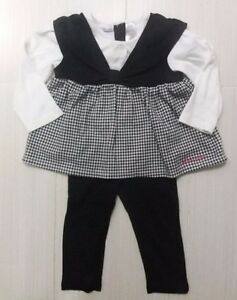 EXCELENT CONDITION: Calvin Klein 2-Pc Girls Outfit Size 24M
