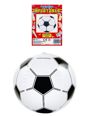 Blow up Soccer Beach Ball Swimming Summer Party Bag 40cm Toy (Blow Up Soccer Ball)