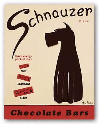 ADVERTISING ART PRINT Schnauzer Bars Ken Bailey 30x22