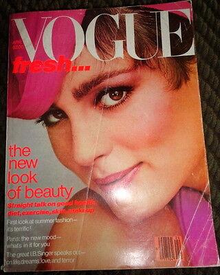 Vintage Vogue 4/1979 Christie Brinkley Janice Dickinson Patti Hansen Eva Vorhees