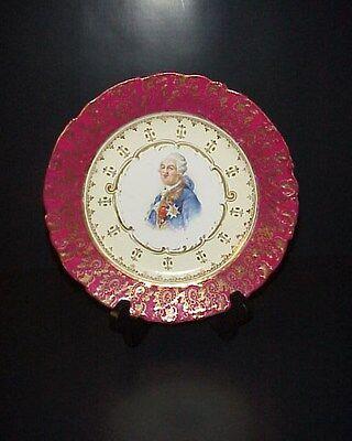 Victoria Carlsbad Austrian Cabinet Portrait Plate Signed