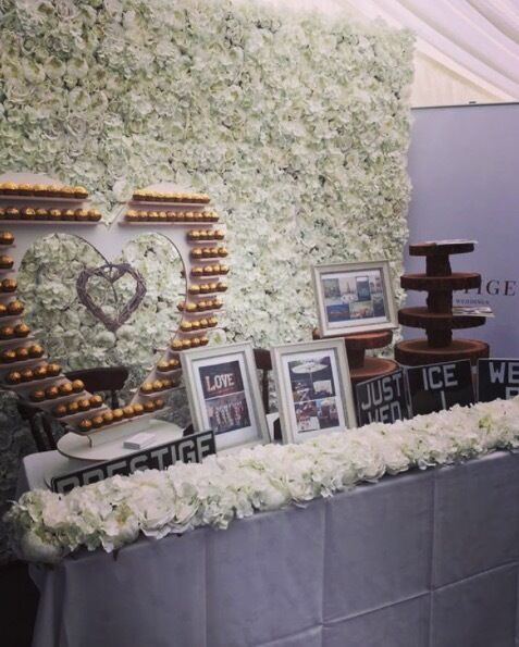 Flower Wall Backdrop, Dance Floor, Large L O V E letters & Photo Booth wedding packages available